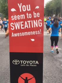 sweating awesome